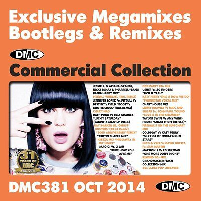 DMC Commercial Collection 381 Club Hits Mixes & Two Trackers DJ Music CD