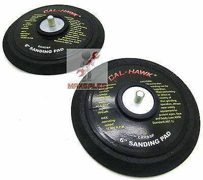 "(Qty-2) 6"" DA PSA Sanding Backup backing pad for stickit  Sanders New"