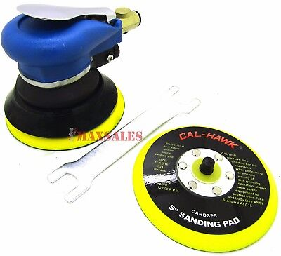 "5"" Air Grip Random Orbital Palm Sander 9000RPM + EXTRA 5"" PAD FOR STICKY PAPER"