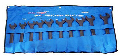 "New 10pc Jumbo SAE Combo Wrench Set 1-5/16"" - 2"" Combination BLACK OXIDE"