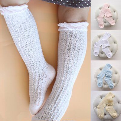 Newborn Infant Kids Baby Girls Cotton Knee High Long Socks Tights Stockings 0-3Y
