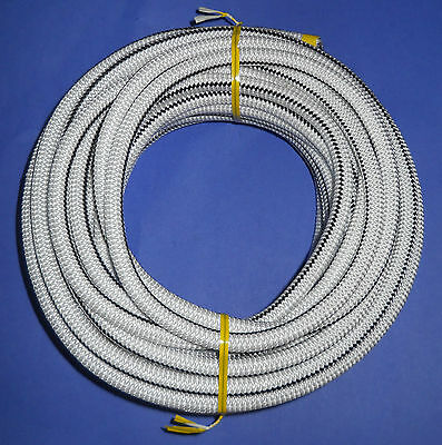 "3/8"" x 50' WHITE with BACK TRACER MFP Cover Bungee / Shock Cord / Made USA!"