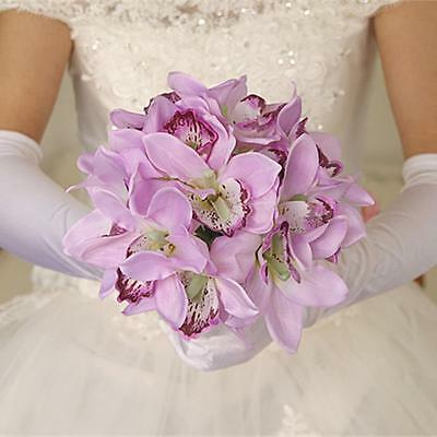 Artificial Silk Butterfly Orchid Bridal Bridesmaid Flower Girl Table Bouquet