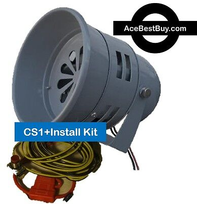 CS1+ Ace Cattle Siren w/Electrical Install Kit, 12v motor driven