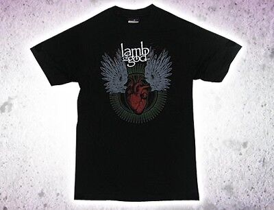 "Lamb Of God - ""heart & Wings"" Generic Band T-Shirt *new* / Sz. Medium"