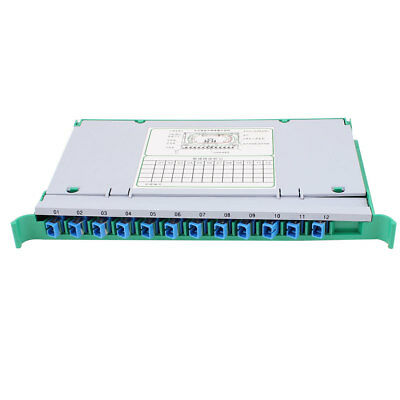 ODF Fiber Optical Patch Panel 12 Ports SC Adapters Connectors Pigtail Cables