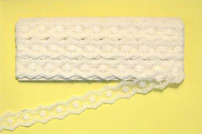 10 Metres Of Ornate White Lace - SL6
