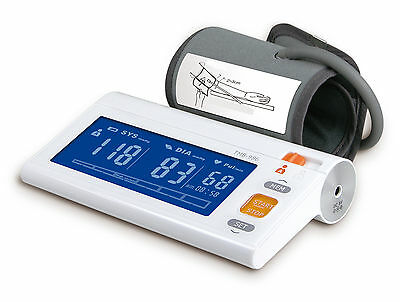 EastShore TMB986 arm blood pressure monitor, Larger BLUE LCD. MWI technology FDA