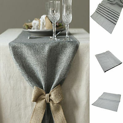 "108"" Burlap Linen Table Runner Jute Country Rustic Venue Wedding Home Decoration"