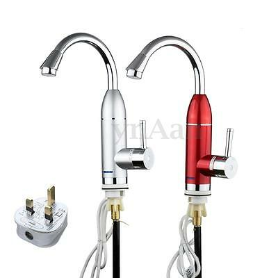 360° Electric LED Fast Instant Faucet Tap Water Heater Hot & Cold Safe Kitchen