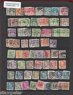 Denmark Definitives Mix of singles & multiples Used