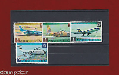 1975 Ascension Island Planes SG 187/90 Set of 4 MUH