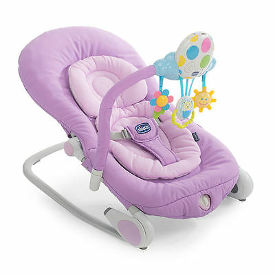 New Chicco Balloon Bouncer Lilla Adjustable Baby Rocker Chair From Birth