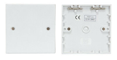White Single Wall 1 Gang Plug Electric Socket Blanking Plate With Screws