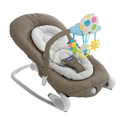 New Chicco Balloon Bouncer Grey Adjustable Baby Rocker Chair From Birth