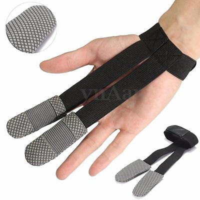 2 Fingers Archer Archery Protect Glove Bow Target Shooting Hand Guard Protector