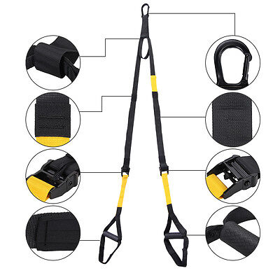 Sport Suspension Trainer Strap/band Training Exercise Workout Strength Home Gym