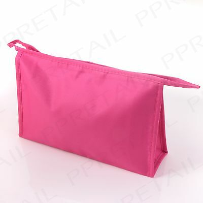 LARGE PINK LADIES COSMETIC BAG Toiletry/Wash/Travel/Holiday/Makeup Zipped Case