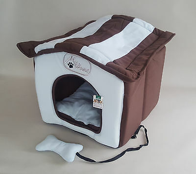 Dog Cat DogHouse Velcro Roof 40x40x40cm Indoor Puppy York Kennels Hut House Pet