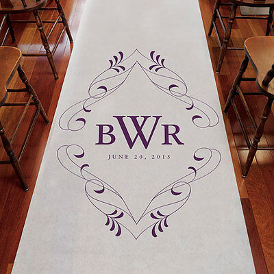 Personalized MONOGRAMMED Wedding Aisle Runner Church Decoration