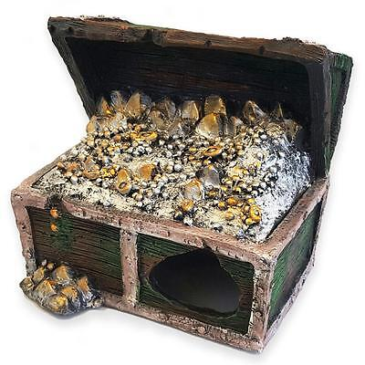 Aquarium Fish Tank Ornament Large Treasure Chest Decoration Perfect Gift 61806