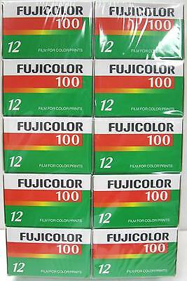 10 Rolls Fuji Fujicolor ISO 100 12 Exposure CN 135 Color Print Film 07/2010