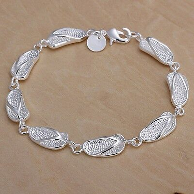 cute nice Silver Plated Fashion WOMEN lady lovely shoe charms Bracelet jewelry
