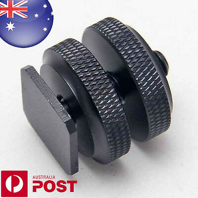 "1/4""- 20 Tripod Screw - Flash Camera Hot Shoe Mount Adapter Aluminium Metal Z237"