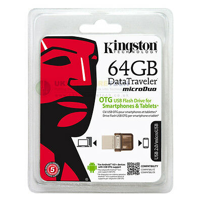 Kingston DataTraveler MicroDuo 64GB OTG USB Flash Drive For Android Devices