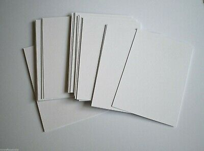 ATC Artist Mini trading cards 50 White blank Card stock 280gsm 90 x 64mm Flat