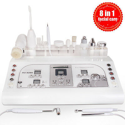8in1 Ultrasonic Skin Rejuvenation Moles Removal High Frequency Skin Cleaner Spa