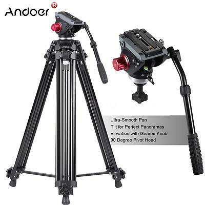 "Professional Heavy Duty 67""inch DV Video Camera Tripod Stand Fluid Pan Head Kit"