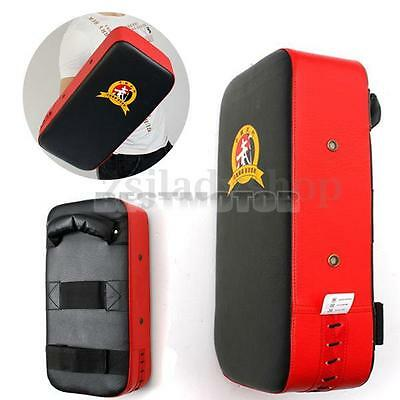 Kick Boxing Punch Strike Pad Curved Arm Shield Focus MMA Muay Thai Mitt Target