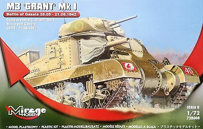 MIRAGE HOBBY® 728008 M3 GRANT Mk I Battle of GAZALA 21.06.1942 in 1:72