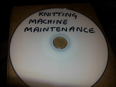 Knitting Machine Maintenance Tutorial Dvd Knitmaster Brother Toyota Singer Pfaff