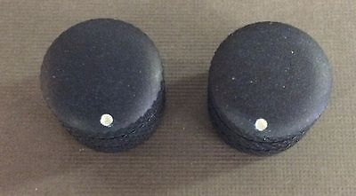 Mighty Mite Guitar/Bass Knobs in Black Set of 2