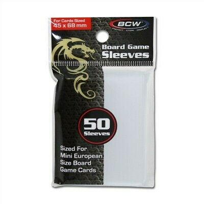 500 BCW 45 x 68 mm Mini European 45x68 Board Game Clear Soft Poly Sleeves