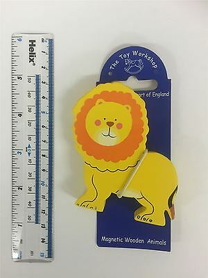 The Toy Workshop Wood Animal Fridge Magnet - RRP £3.99 Lion [Buy 5 Free Post]