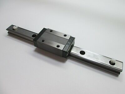 "THK SR25 Linear Rail and Carriage, 11"" Long Rail, Carriage is Tapped M6"