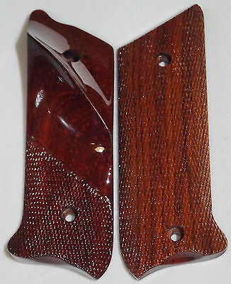 RUGER MKII/MKIII GRIPS COCOBOLO NEGRO WOOD DIAMOND CHECKING & thumb-rest M-1