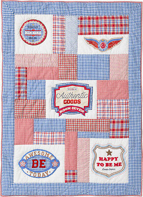 Room Seven Quilt Authentic goods 110 x 150 boys Tagesdecke Decke Neu