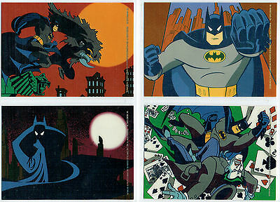 Batman Animated Series 2 Set Of 4 Vinyl Mini-Cels