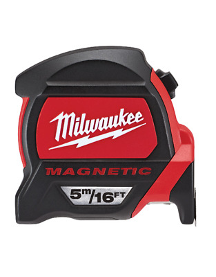 Milwaukee 5m/16ft Tape Measure  Dual Magnetic Hook & Architect Scale 48225216