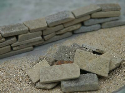 24 sq ins REAL York Dry Stone Miniature Walling
