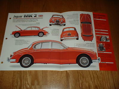 ★★1960 Jaguar Mk 2 Spec Sheet Brochure Poster Photo 59 60 61 62 65 66 67 Mkii Ii