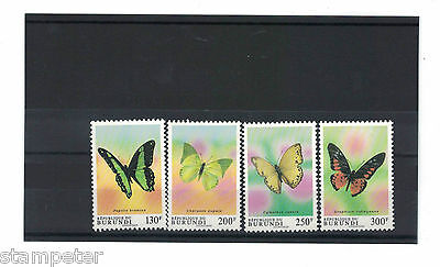 1993 Burundi Butterflies SG 1561/4 Set of 4 MUH