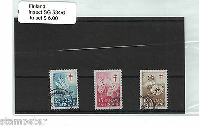 Finland Insects SG 534/6 Set of 3 FU