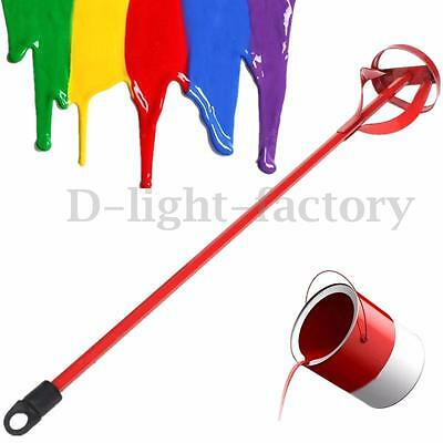 Drill Paint Pot Plaster Mixer Stirrer Paddle DIY Whisk Hex Shank Stir Tool Pole