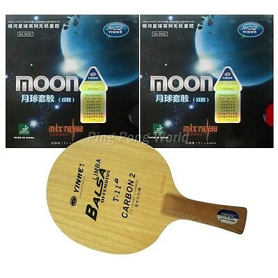 Pro Combo Racket, Yinhe/Galaxy T-11+ blade with 2x Moon (Factory Tuned) Rubbers