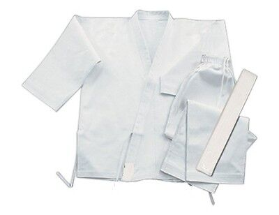 KARATE SUIT MARTIAL ARTS UNIFORM BRAND NEW WHITE 110cm /SIZE000 Polyester COTTON